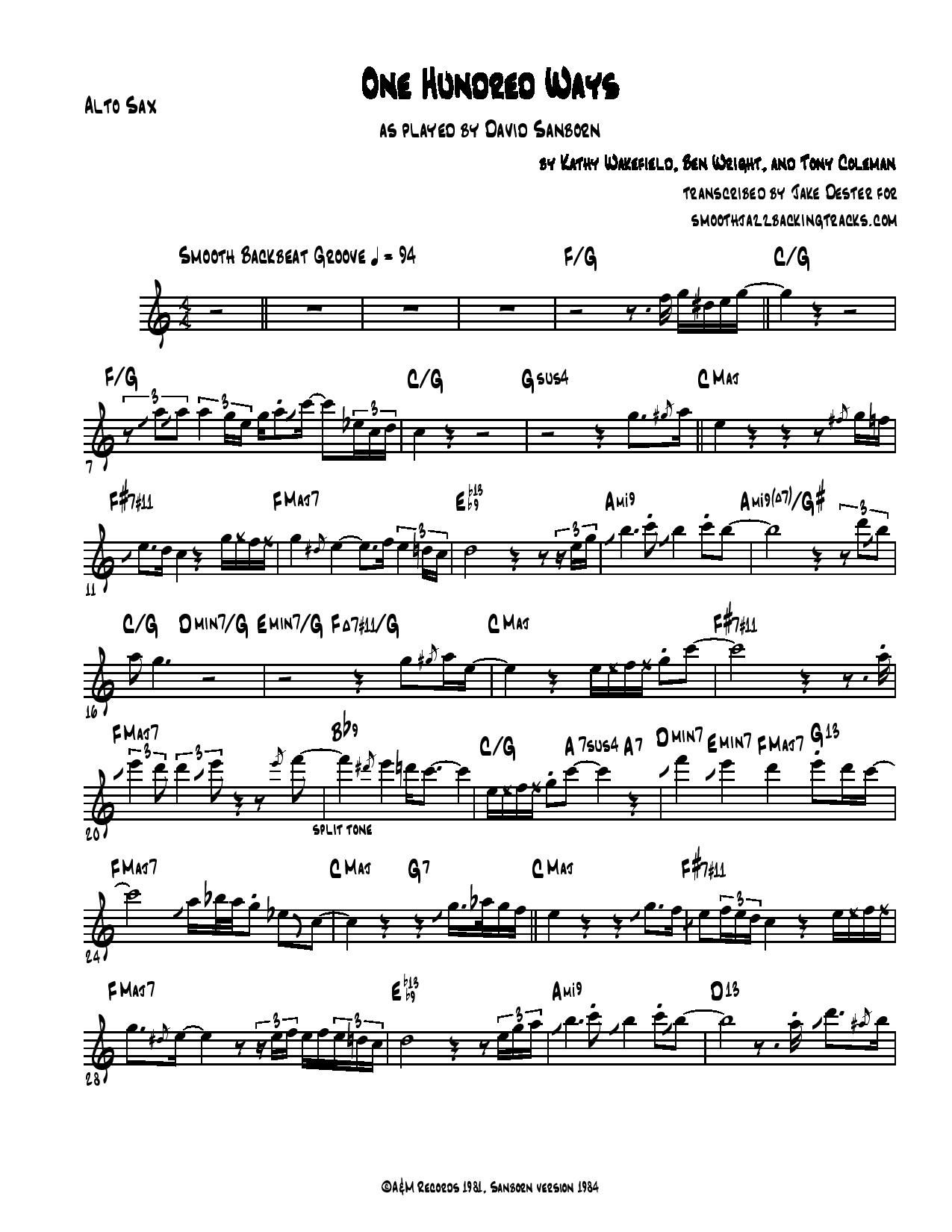 Smooth Jazz Piano Sheet Music Pdf - jazz piano voicings made easysax solo sheet music in ...