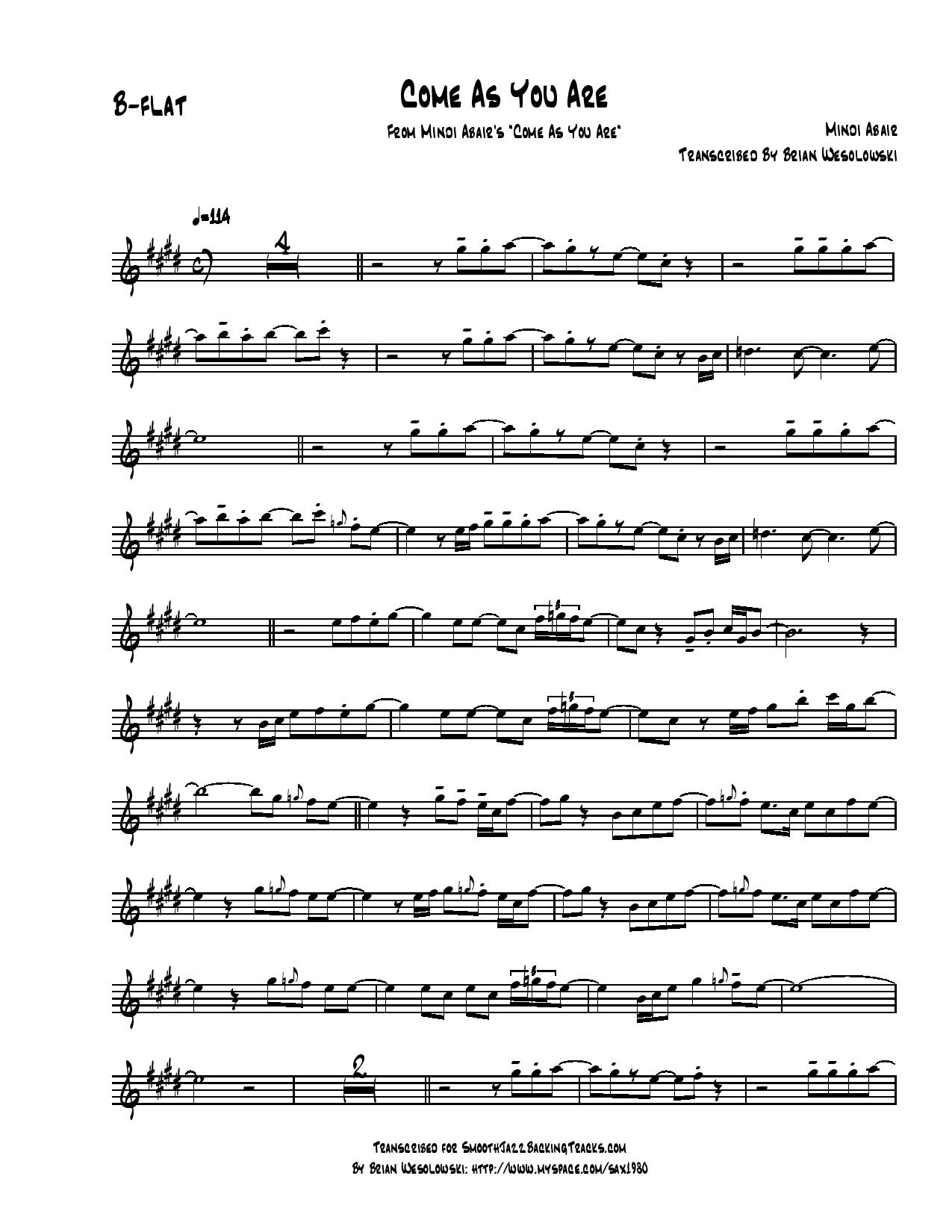 Come as you are chords guitar gallery guitar chords examples smooth jazz sax solo sheet music k m chords included fatherlandz gallery hexwebz Images