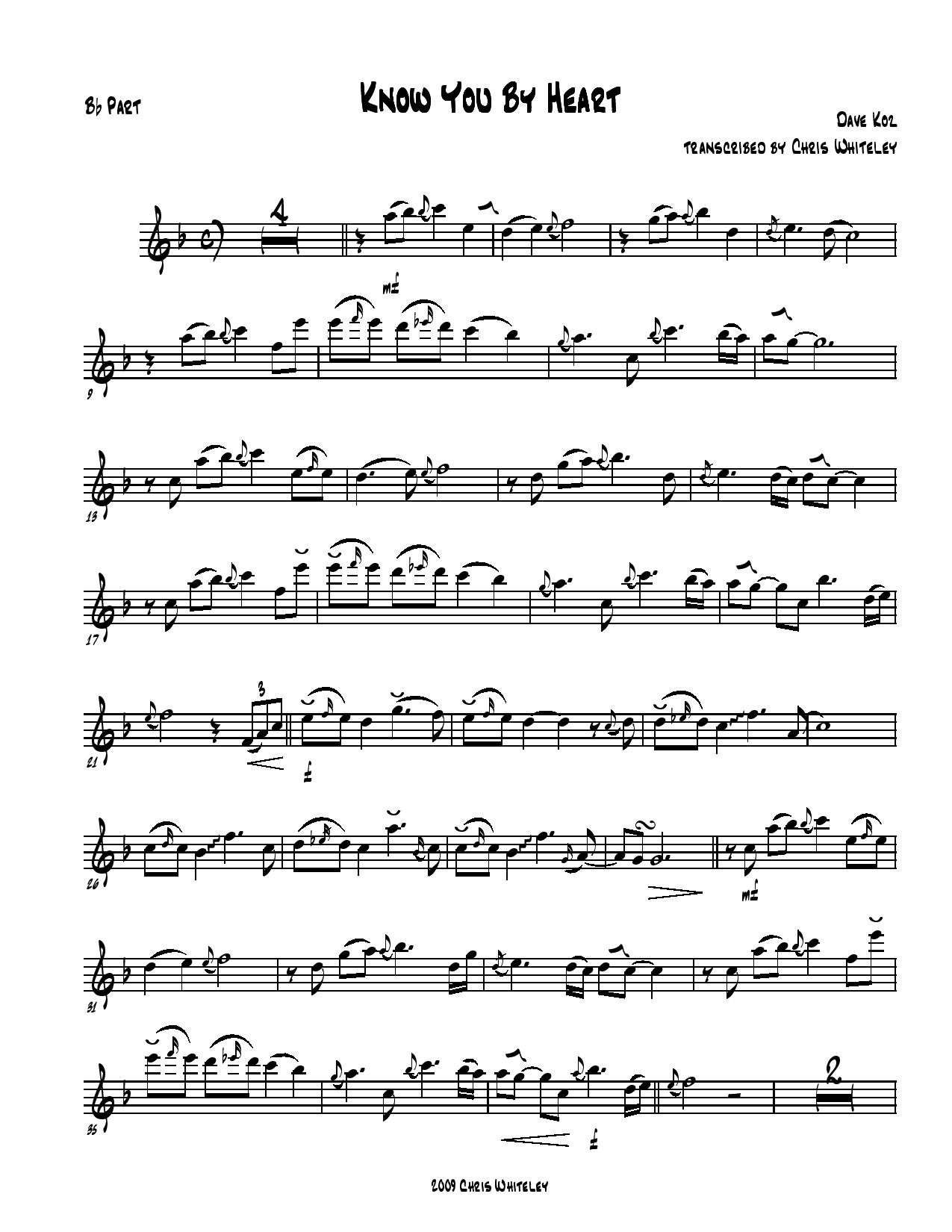 Sax solo sheet music in printable pdf no chords hexwebz Gallery