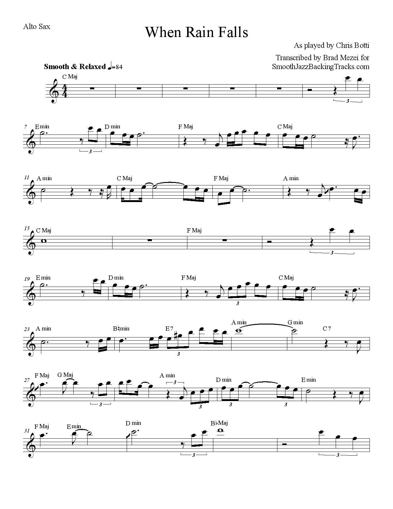 Free Jazz Alto Saxophone Sheet Music - 8notes.com
